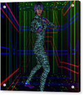 Woman In Cyber Passage Acrylic Print