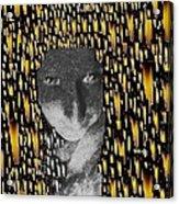 Woman In Flames Acrylic Print