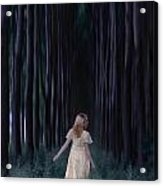 Woman In Forest Acrylic Print by Joana Kruse
