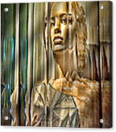 Woman In Glass Acrylic Print