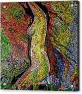Woman In Glow Acrylic Print