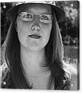 Woman In Hat Acrylic Print