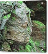 Woman In Rock Acrylic Print