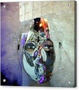 Woman In Silver Mask Acrylic Print