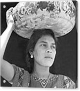 Woman In Tehuantepec, Mexico, 1929 Acrylic Print