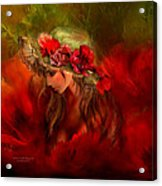 Woman In The Poppy Hat Acrylic Print