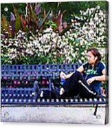 Woman In Wicker Park Acrylic Print by Shawn Lyte
