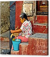 Woman Of Colonial Mexico Acrylic Print
