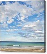 Woman On Manly Beach In Sydney Australia Acrylic Print