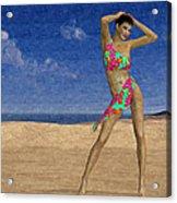 Woman On The Beach... Acrylic Print