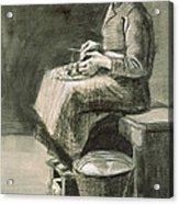 Woman Peeling Potatoes, 1882 Acrylic Print