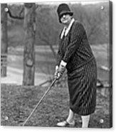 Woman Ready To Play Golf Acrylic Print