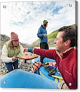 Woman Serving Appetizers, Alsek River Acrylic Print