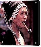 Woman Smokes Opium Pipe Acrylic Print