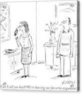 Woman Talks On Phone Acrylic Print
