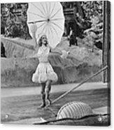 Woman Tightrope Walker Acrylic Print
