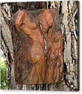 Woman Torso Relief Acrylic Print