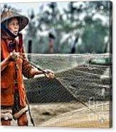Woman Vietnam Color Acrylic Print