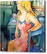 Woman Waiting  Acrylic Print by Trudi Doyle