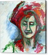 Woman With A Hat - Anne Iv Acrylic Print