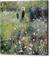 Woman With A Parasol In A Garden, 1875 Acrylic Print