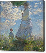 Woman With A Parasol Madame Monet And Her Son  Acrylic Print