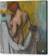 Woman With A Towel Acrylic Print