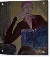 Woman With Coffee Acrylic Print
