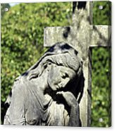 Woman With Cross Cave Hill Cemetery Louisville Kentucky Usa Acrylic Print