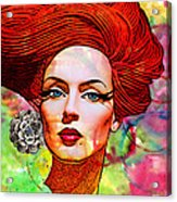 Woman With Earring Acrylic Print by Chuck Staley