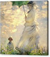 Woman With Parasol Dedication Acrylic Print