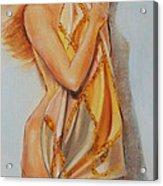 Woman With Scarf Acrylic Print