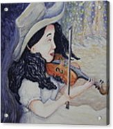 Woman's Autumnal Twilight Serenade Acrylic Print