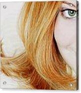 Womans Face Acrylic Print