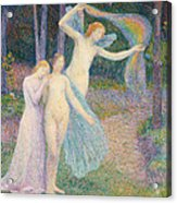 Women Amongst The Trees Acrylic Print by Hippolyte Petitjean
