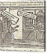 Women Arguing, 18th Century Artwork Acrylic Print