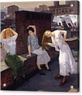 Women Drying Their Hair 1912 Acrylic Print