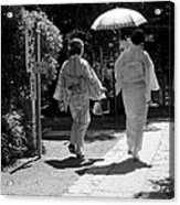 Women In Kimono Acrylic Print