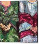 Women Wearing Shawls II Acrylic Print