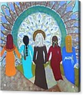 Women's Circle Mandala Acrylic Print