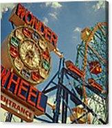 Wonder Wheel - Coney Island Acrylic Print