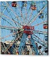Wonder Wheel Of Coney Island Acrylic Print