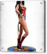 Wonder Woman V1 Acrylic Print by Frederico Borges