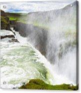 Wonderful Waterfall Gullfoss In South Iceland Acrylic Print