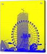 Wonderwheel In Blue And Yellow Acrylic Print