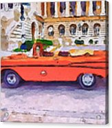 Wonna Ride This Car Acrylic Print by Yury Malkov