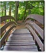 Wood Bridge Acrylic Print