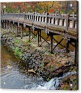 Wood Bridge And Autumn Color Acrylic Print