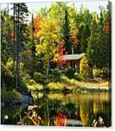 Wood Cabin By The Lake Acrylic Print