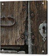 Wood Door Acrylic Print